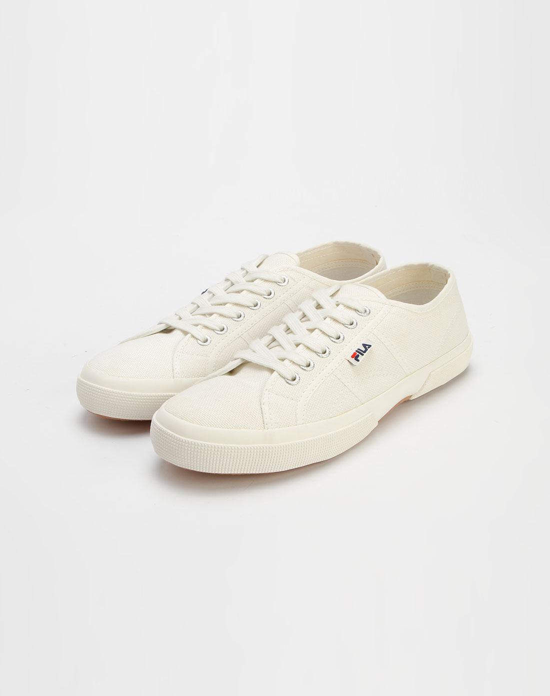 斐乐fila白色简约帆布鞋211062519-202