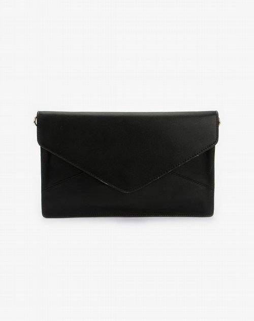 朗歌langrand黑色巴黎之光系列信封两用包