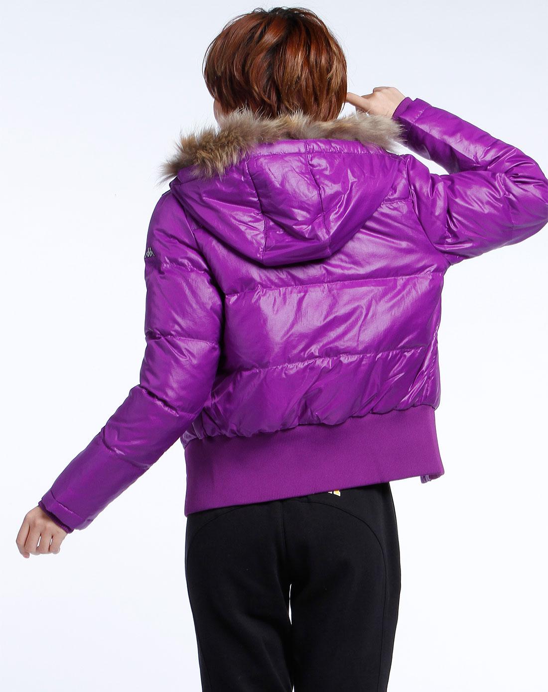 卡帕kappa女装专场-紫色时尚长袖羽绒