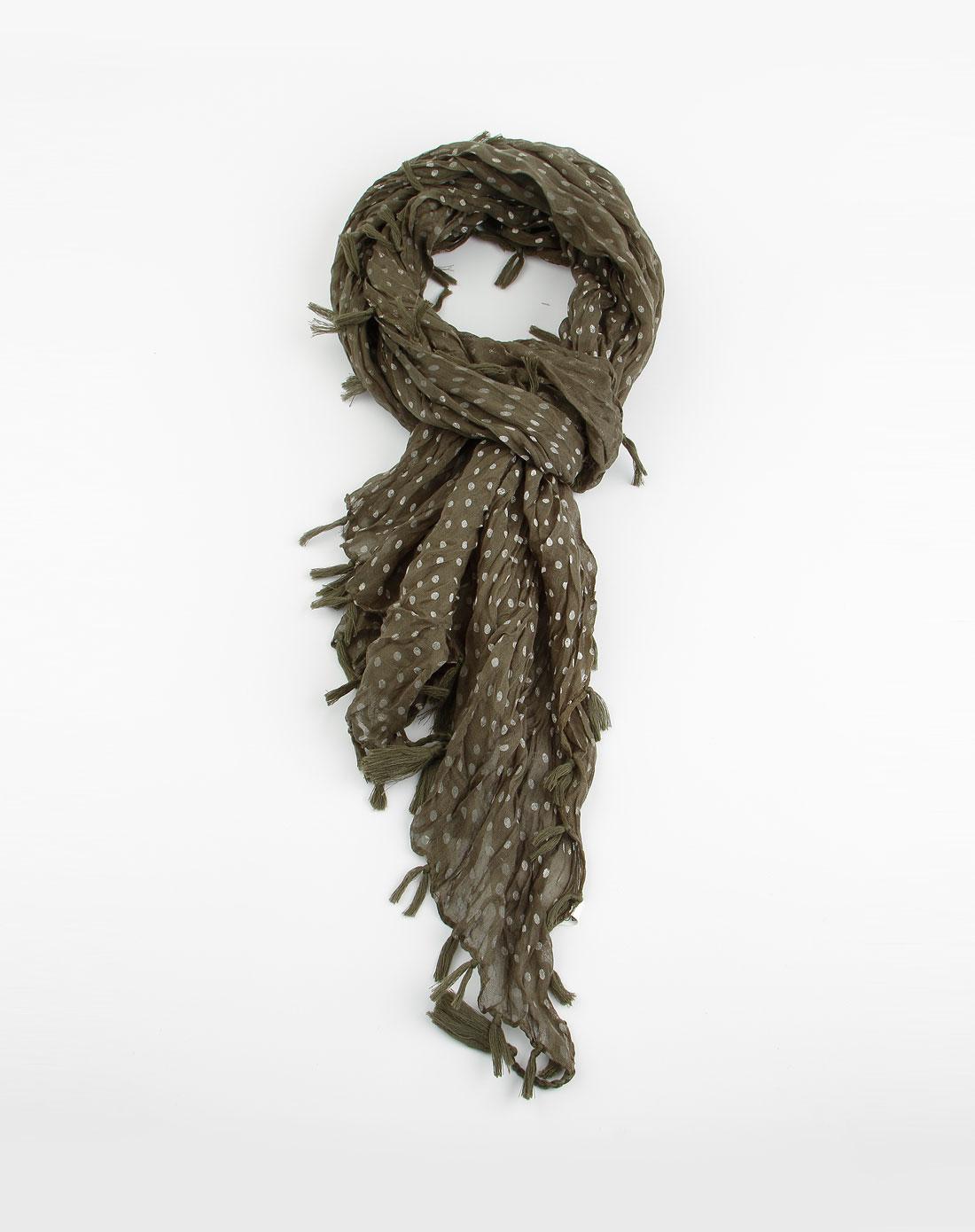 斯密达simida围巾专场墨绿色小圆点复古围巾wj-11207