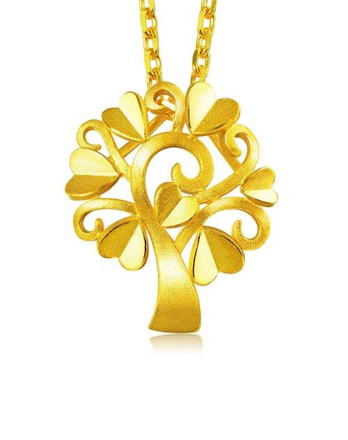 周生生珠宝专场黄金魔法爱情树吊坠
