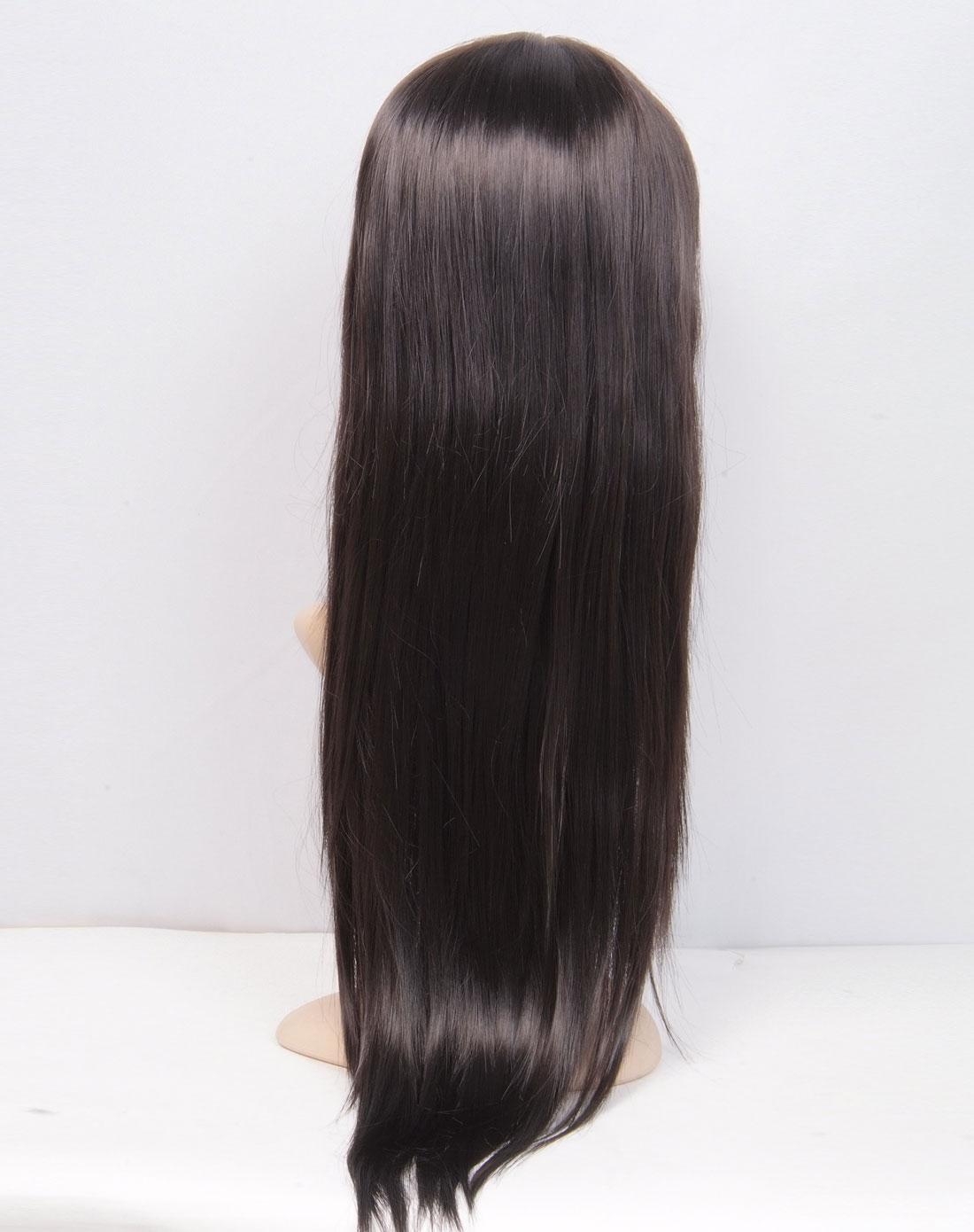 丝黛styler深黑色流行齐刘海中长直假发