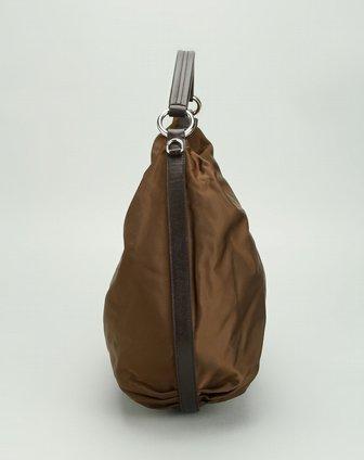 prada包包专场女款深棕色简约单肩包