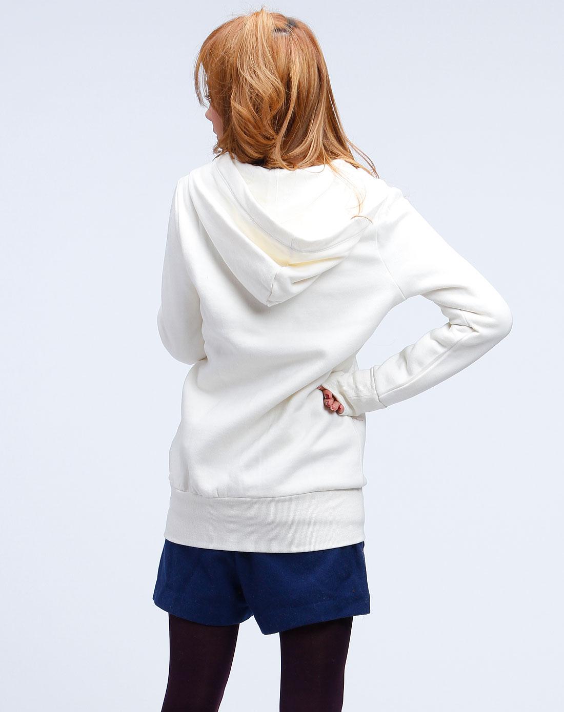 女装米白针织长袖外套
