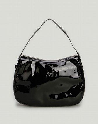 armani包包专场aj女款黑色漆皮时尚单肩包q5282xs12