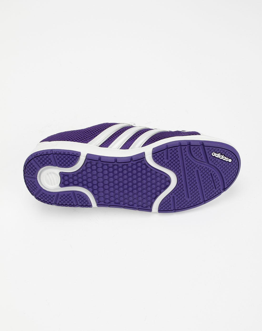 阿迪达斯adidasneo 女款白/紫色休闲运动鞋g31043