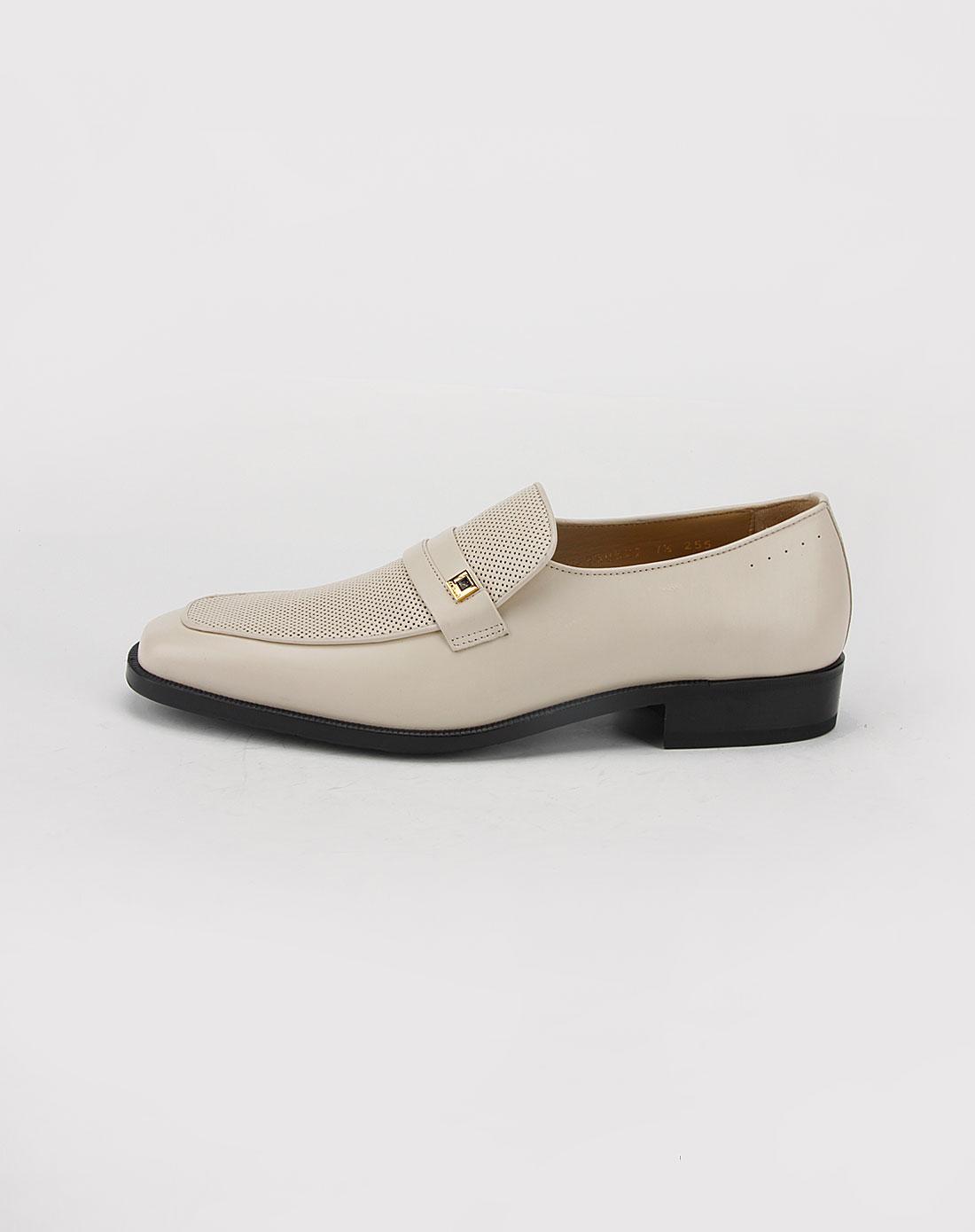 t.dupont男款米白色网眼皮鞋