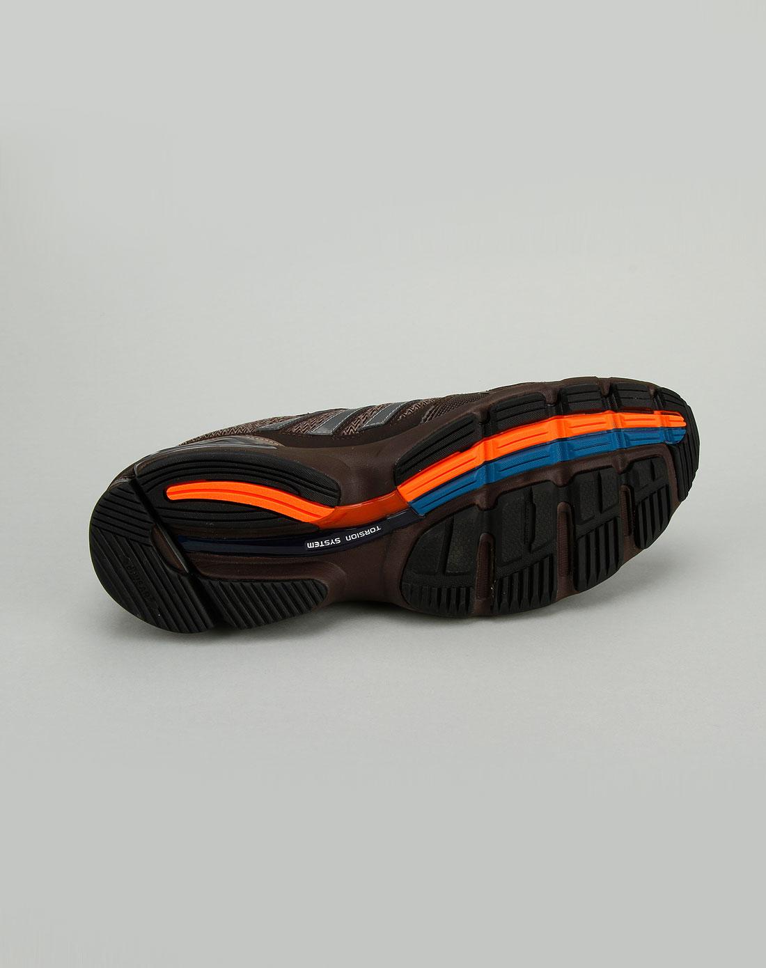 阿迪达斯adidas男款棕色休