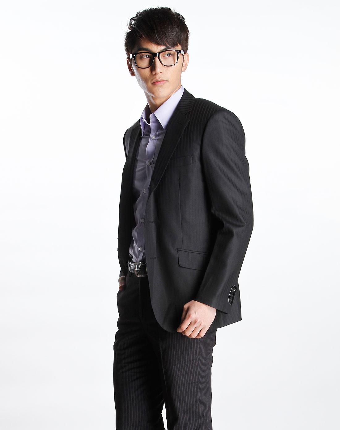 g2000-黑色休闲长袖西装