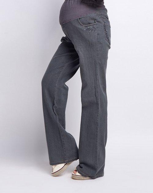 有喜女款后口袋烫钻牛仔裤