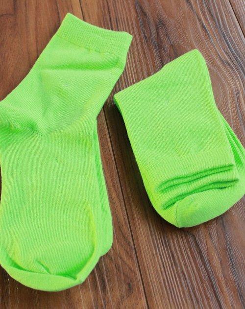 居乐依居乐依篮球全棉袜子色图片青檬绿女生女生价格糖果打QQ图片