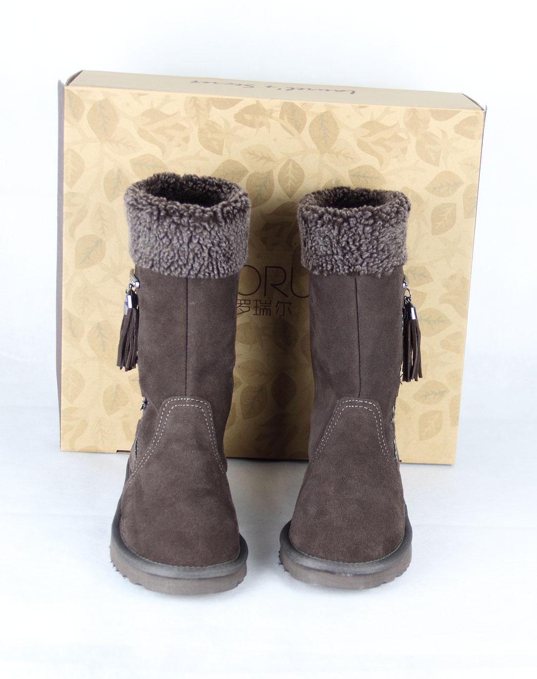 款巧克力雪地靴