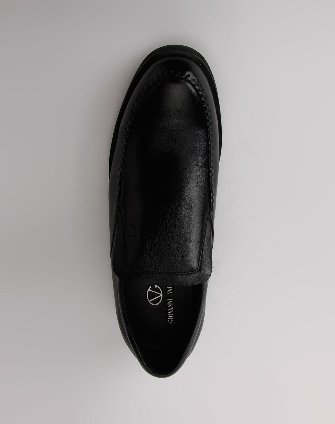 黑色休闲皮鞋6