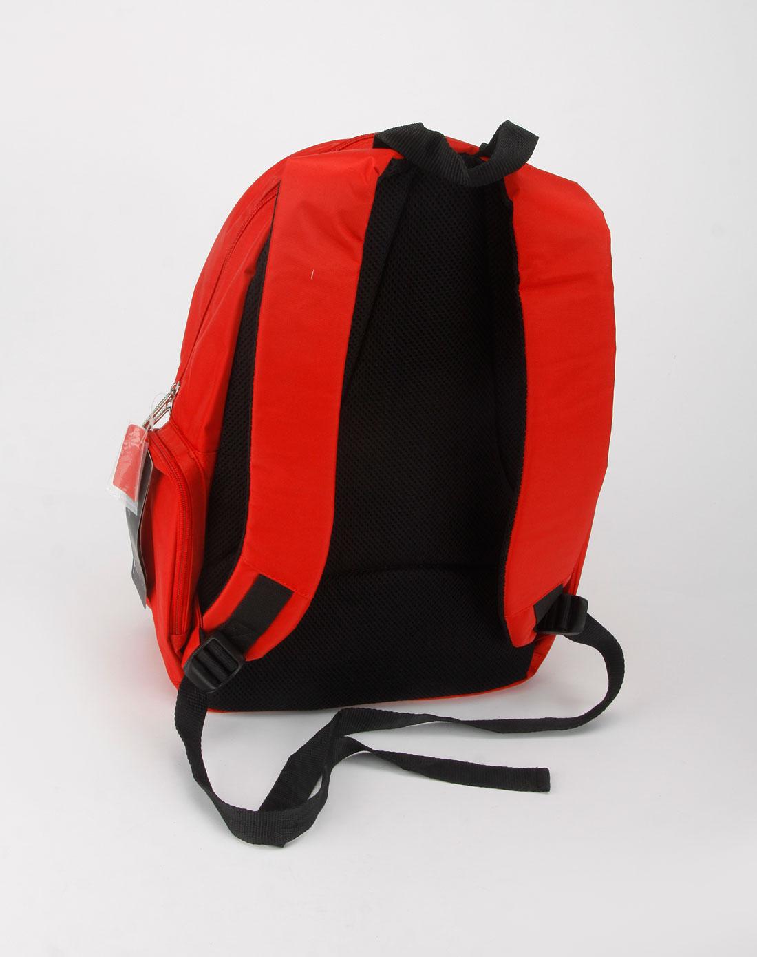 中性红色双肩背包