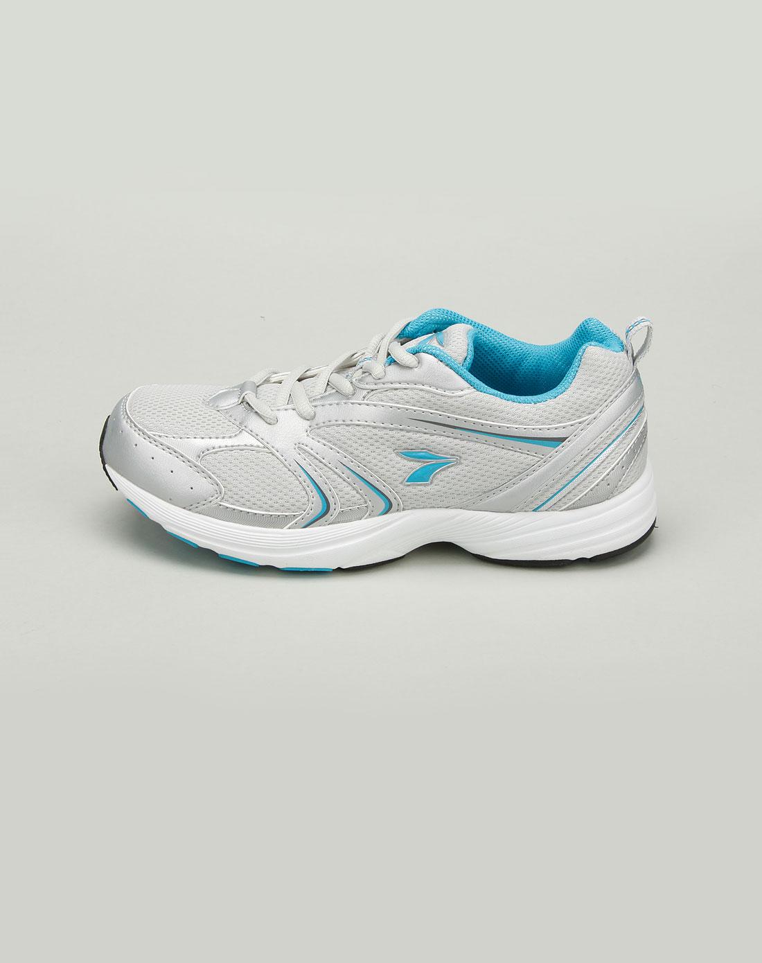 361°女款浅灰/蓝色跑步运动鞋
