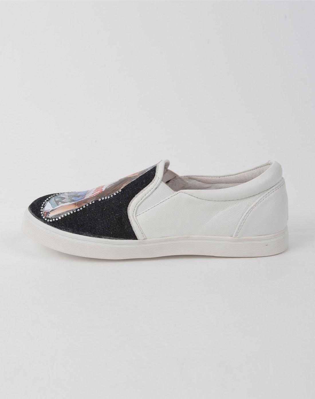佐丹奴giordano女鞋女款白色休闲鞋