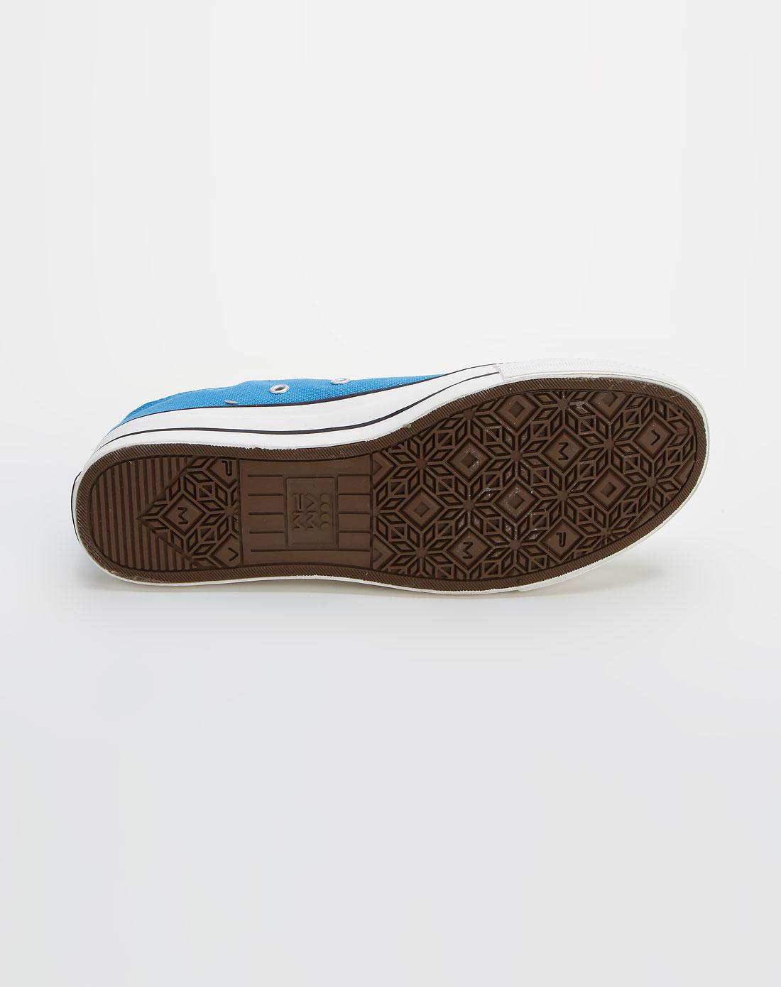 ampm男士蓝色时尚系带布鞋