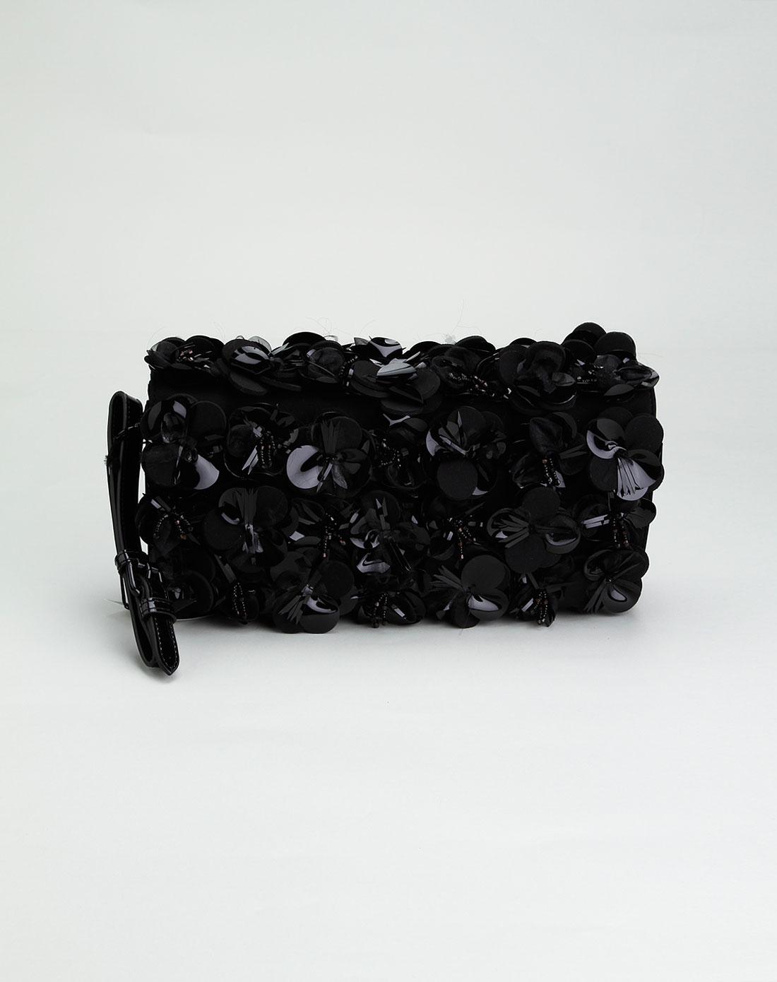 iceberg女款黑色时尚贴花手抓包