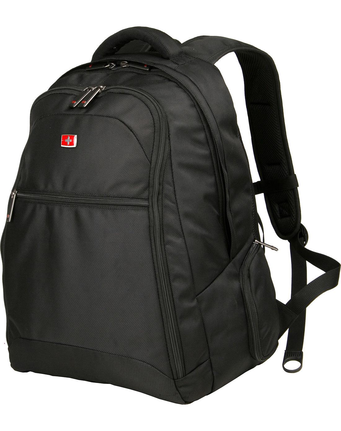 男士专场-中性款黑色双肩电脑背包