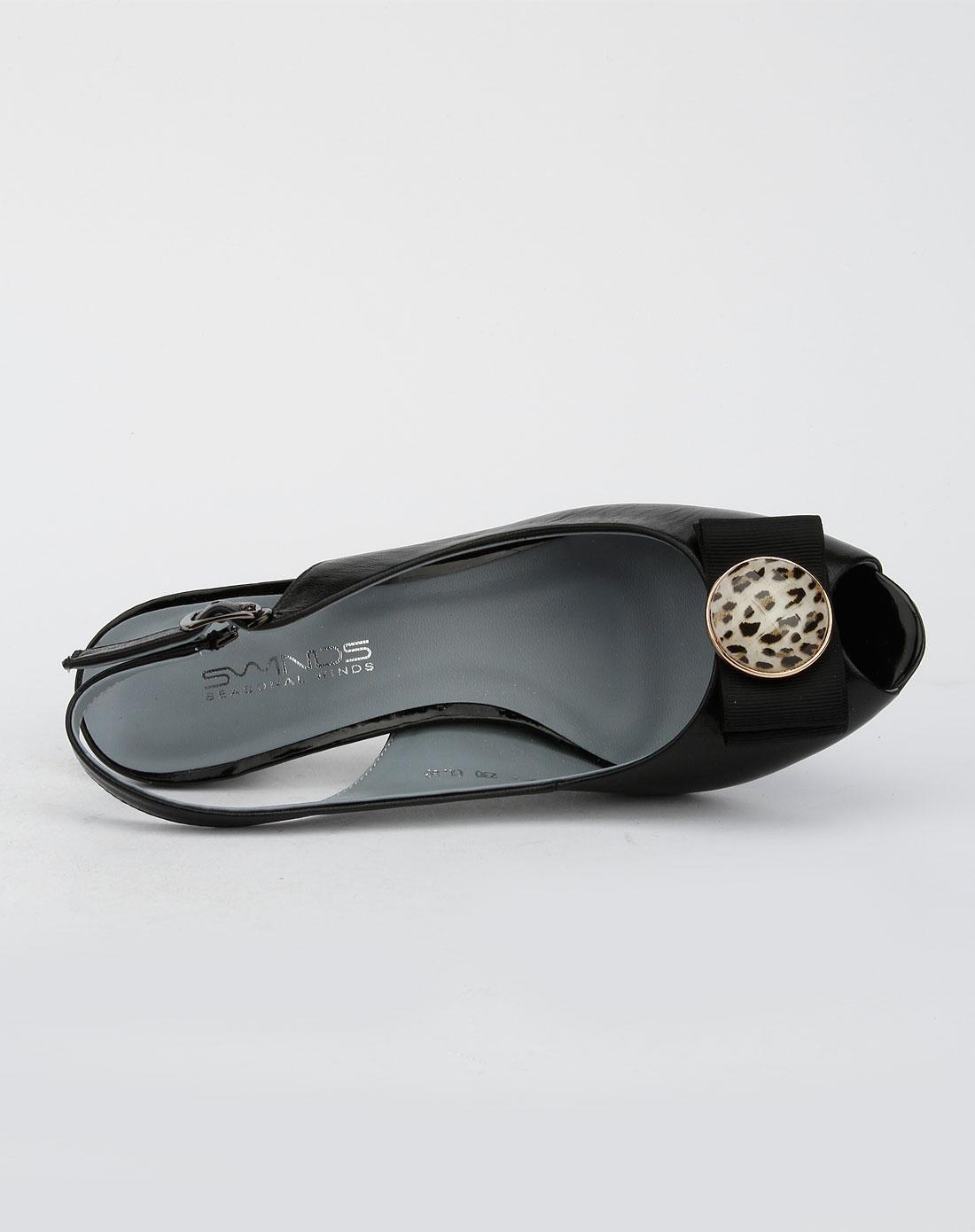 四季风黑色时尚高跟鞋_唯品会名牌时尚折扣网