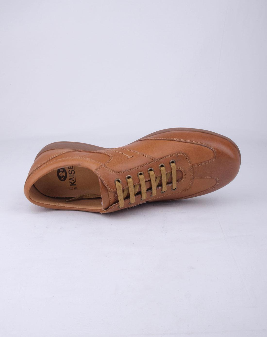 凯撒kaiser男款浅棕色时尚休闲皮鞋238c2025