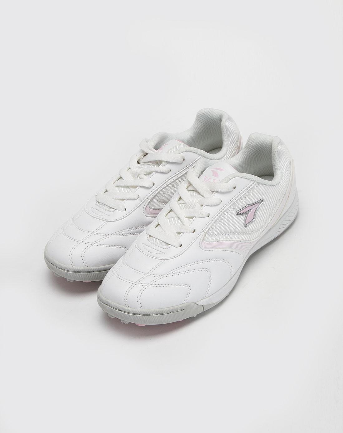 361°女款白色足球鞋