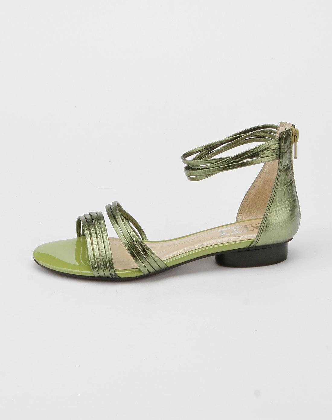 芭迪patty女款绿色时尚凉鞋