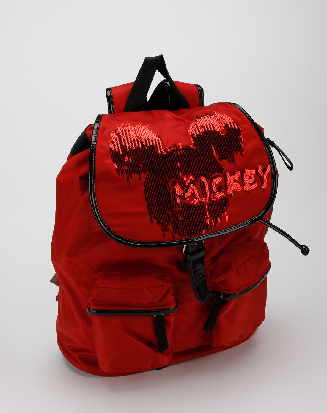 女款红色双肩背包_迪士尼disney米奇官网特价3