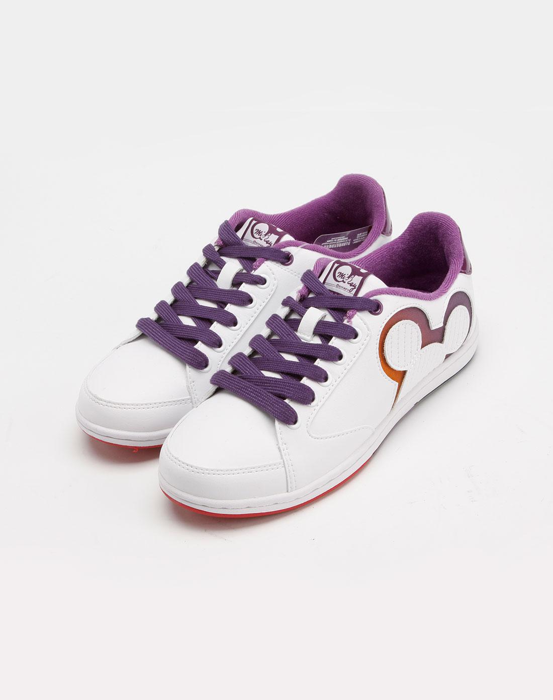 迪士尼disney米奇女款白色休闲鞋