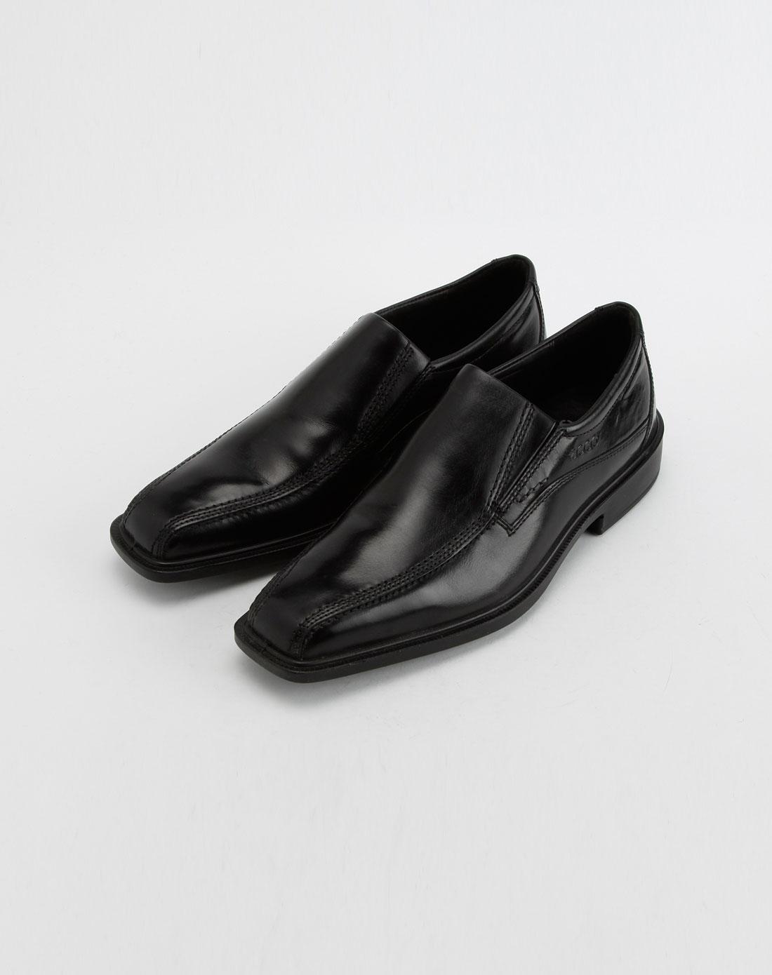 男款巴塞罗那系列黑色皮鞋2