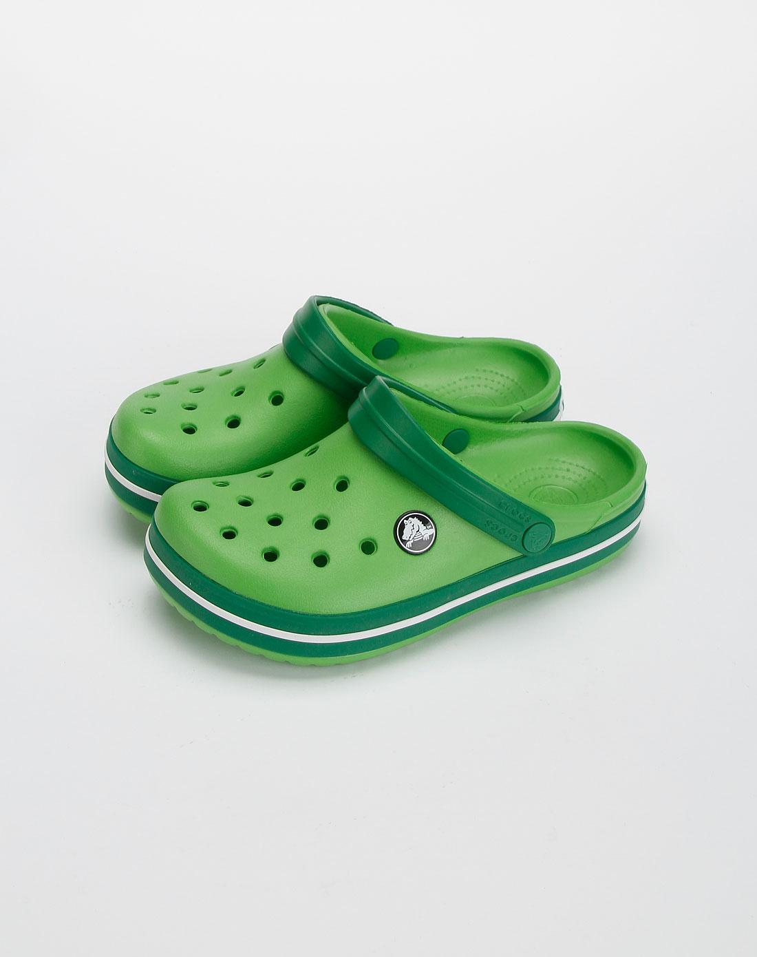 卡骆驰crocs中性苹果绿色小卡骆班休闲鞋