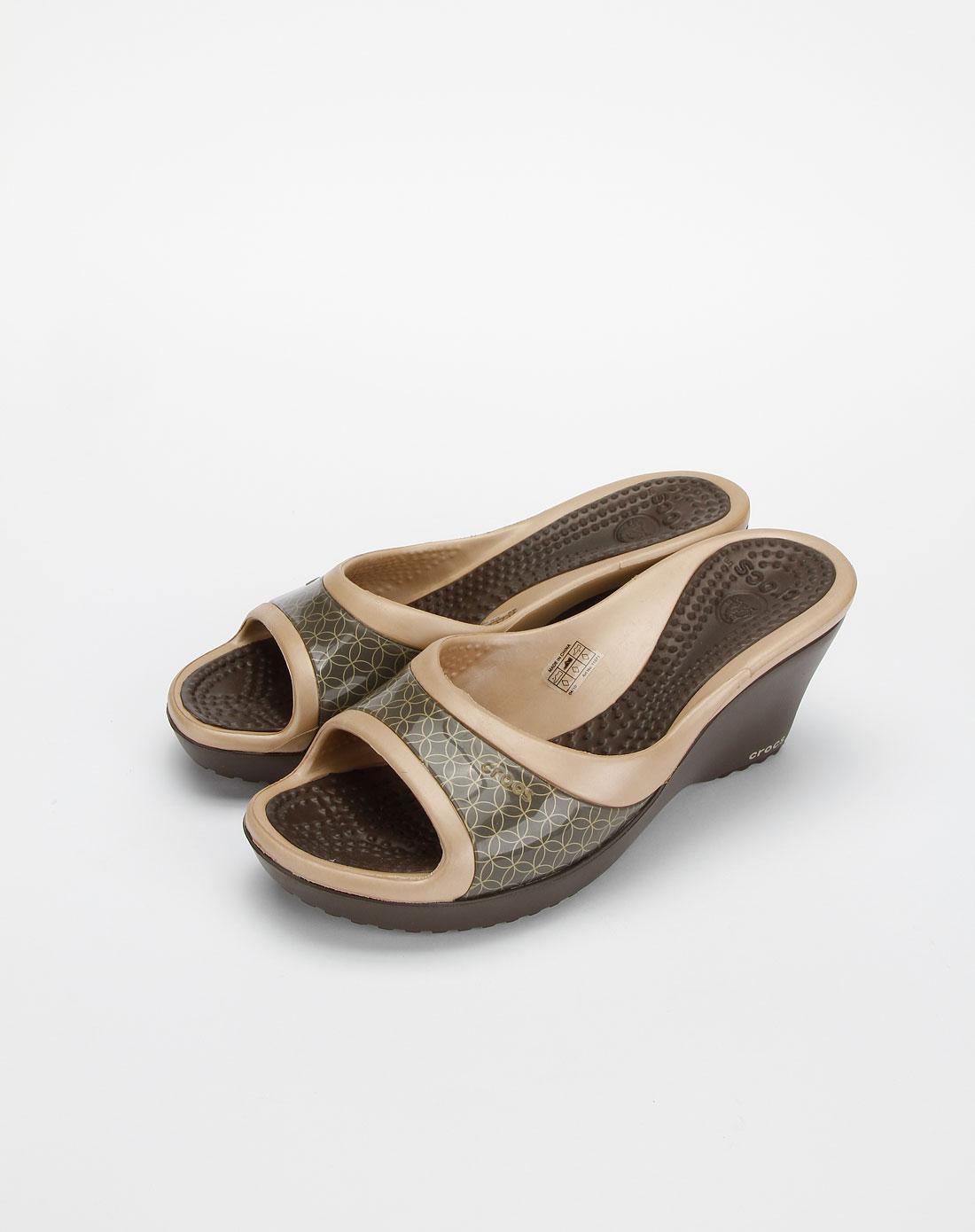 卡骆驰crocs女款咖啡色莎妮休闲女鞋