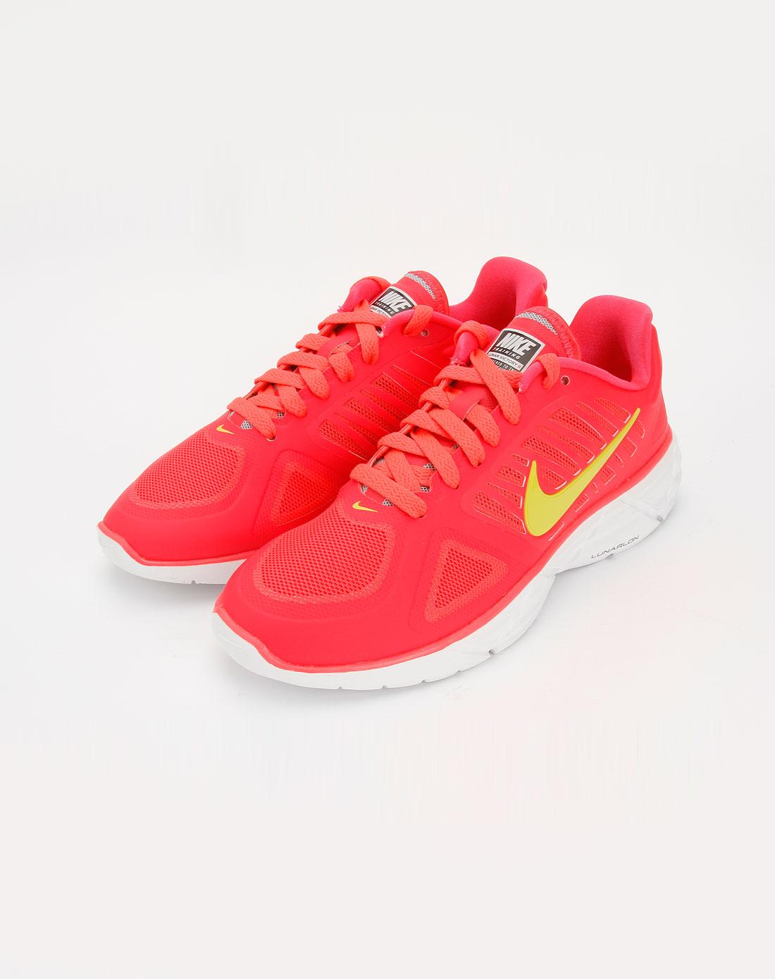 耐克nike女款荧光红/白色透气运动鞋454130-600