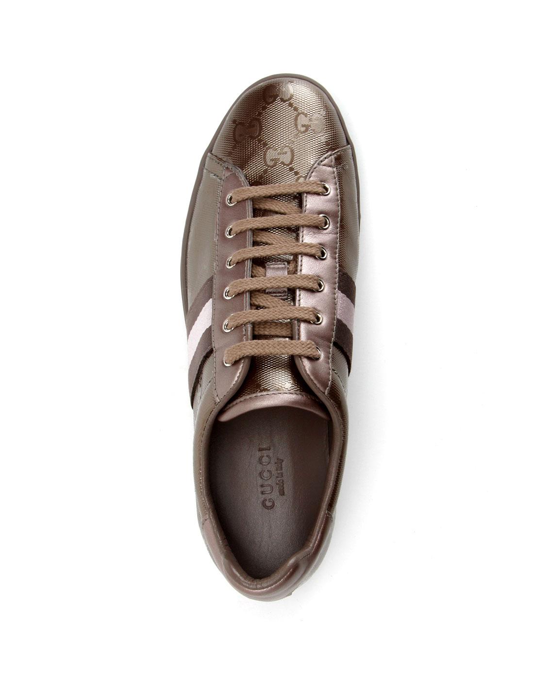 gucci鞋子专场女款粉紫色休闲鞋