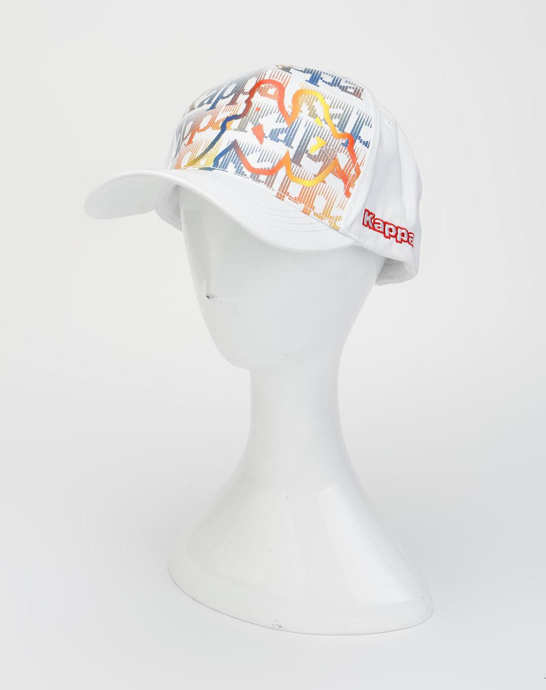 卡帕kappa男装-白色时尚简约鸭舌帽