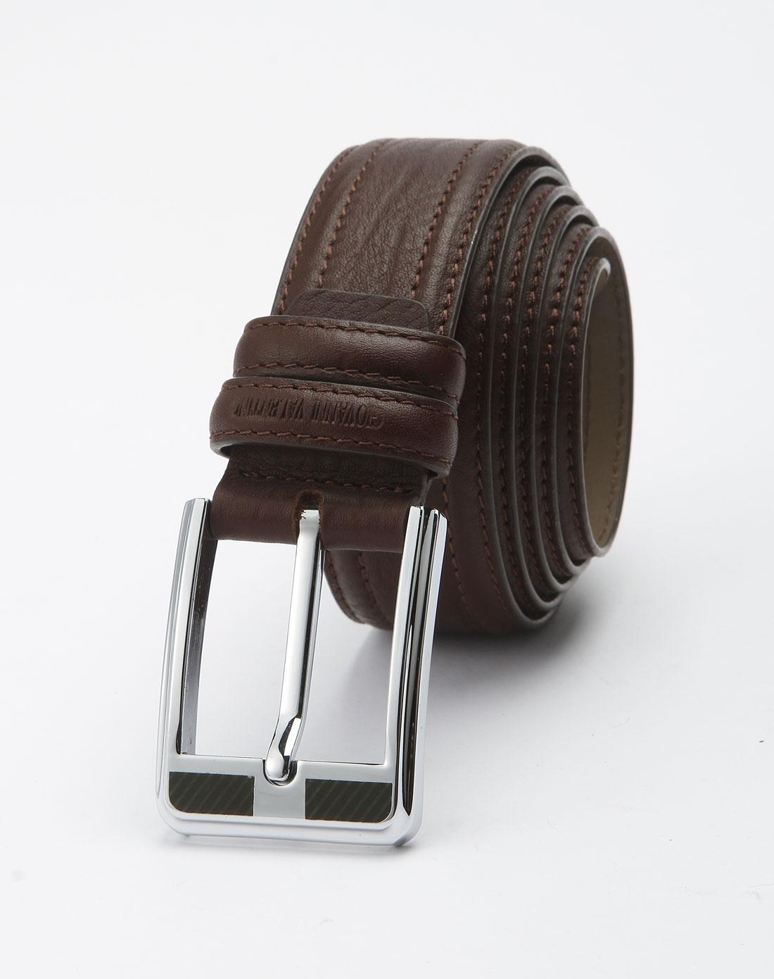 卓凡尼-华伦天奴-箱包男士啡色时尚皮带