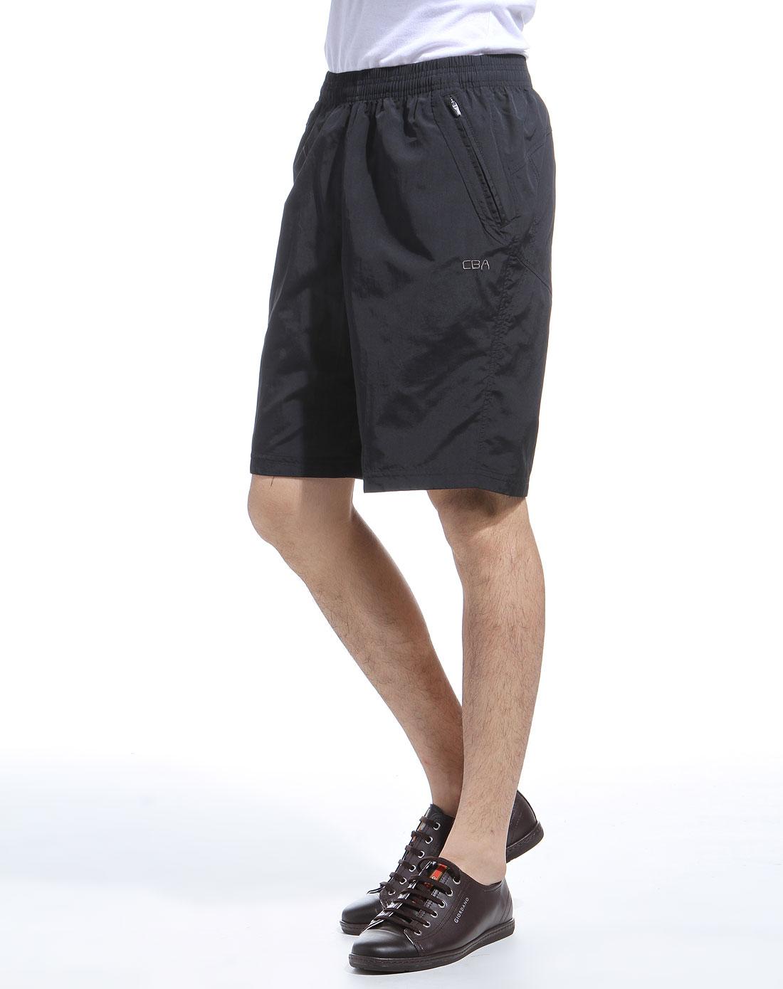 cba男款黑色时尚休闲短裤