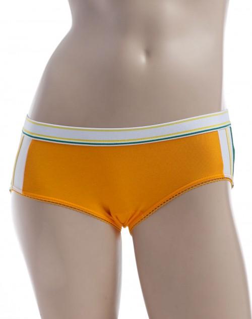 crz女款橙黄色花边三角内裤
