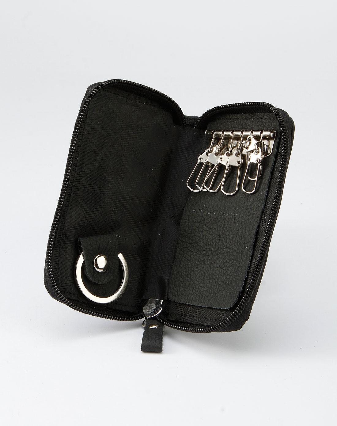 马连奴·奥兰迪-男包黑色时尚拉链钥匙包