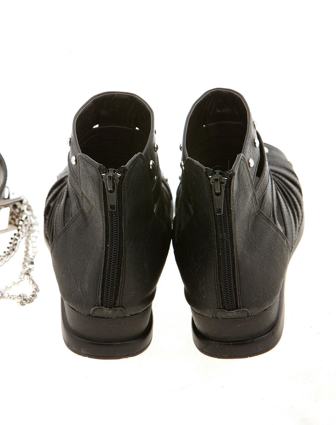 绿盒子greenbox男女童装女童凉鞋个性镂空大童新款鞋