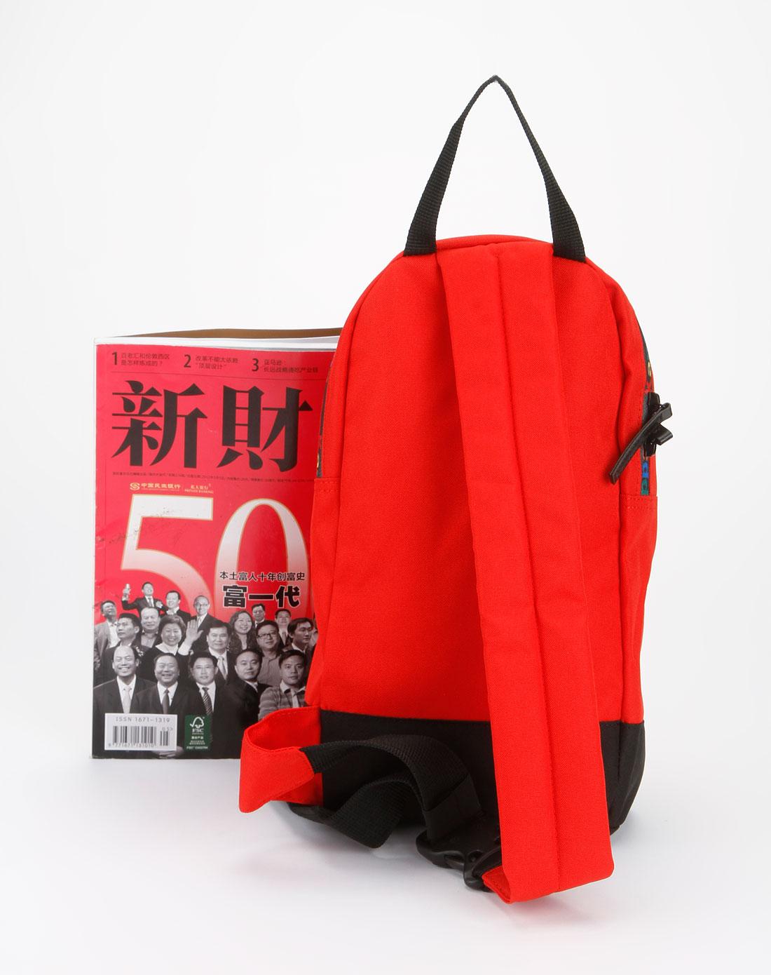卡帕kappa红色时尚单肩包k01x8bd56-533