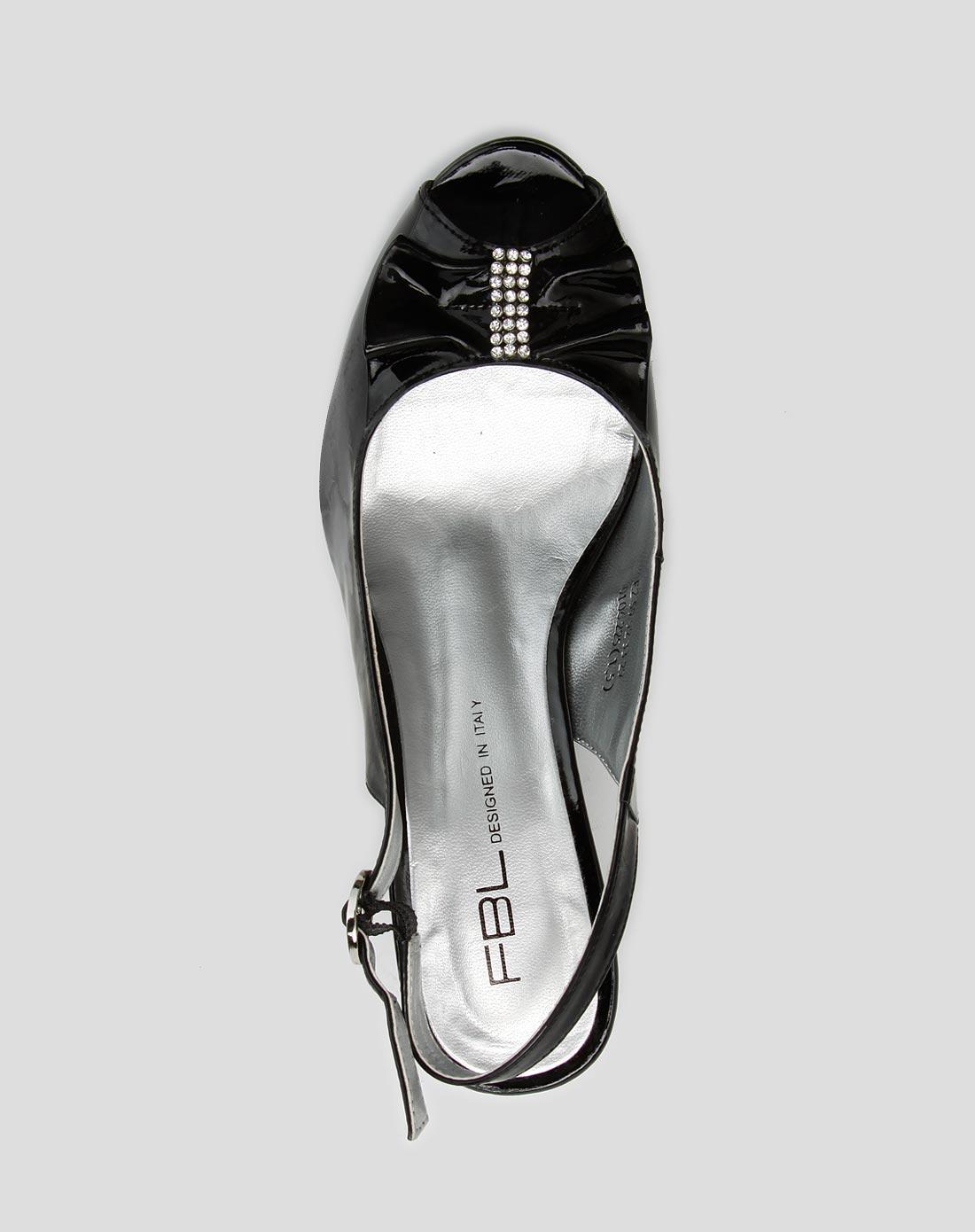 黑色淑女高跟凉鞋_菲伯丽尔官网特价2.9-4