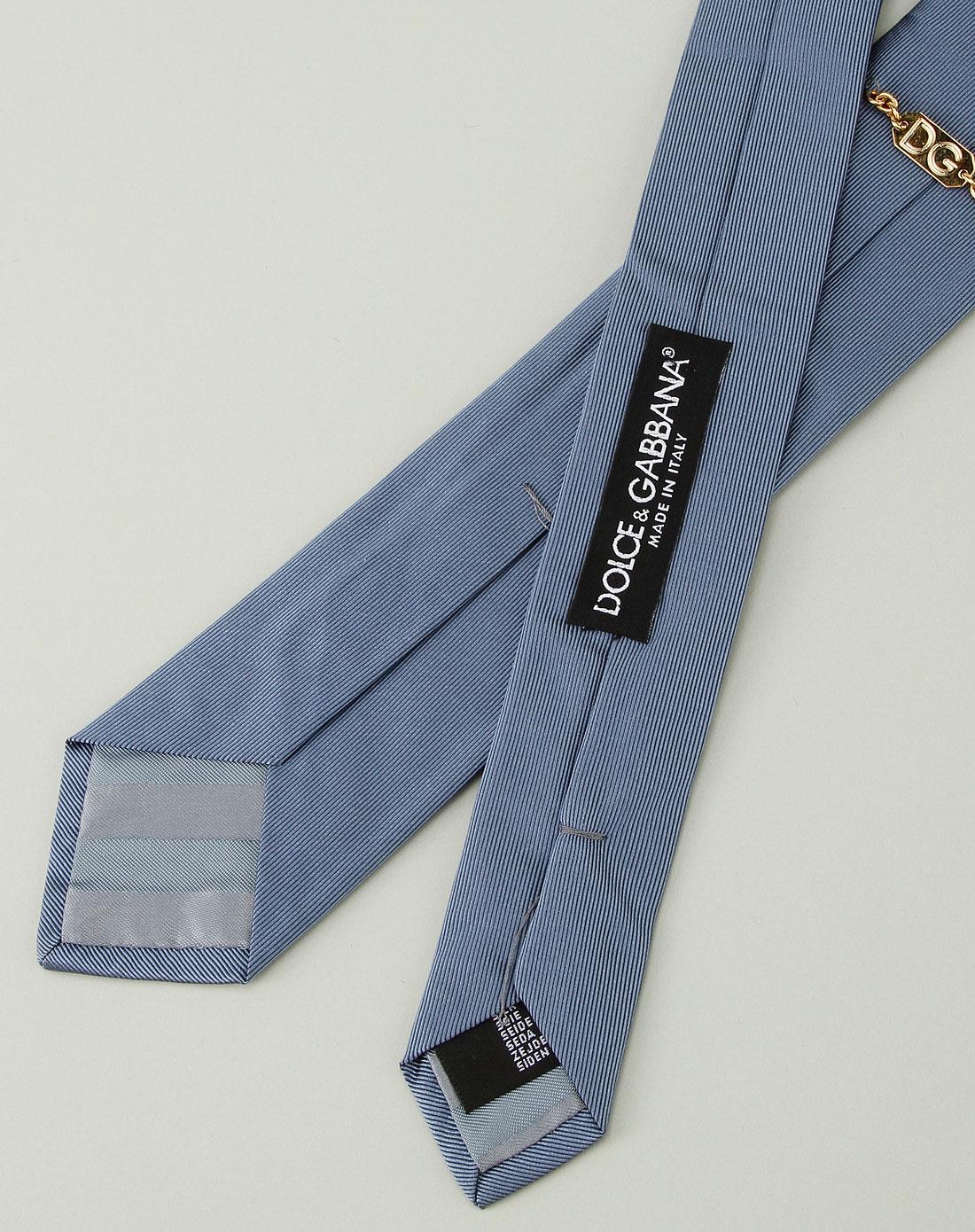 男款竖条纹惬意生活商务领带蓝色