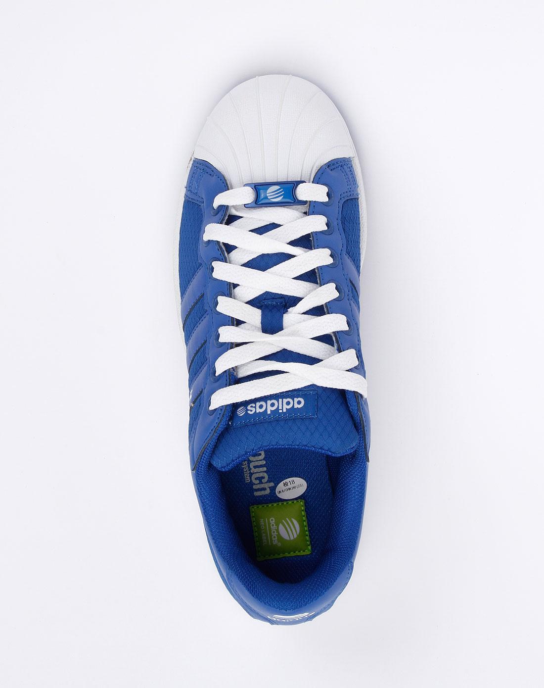 阿迪达斯adidas男款蓝色休闲鞋g53238