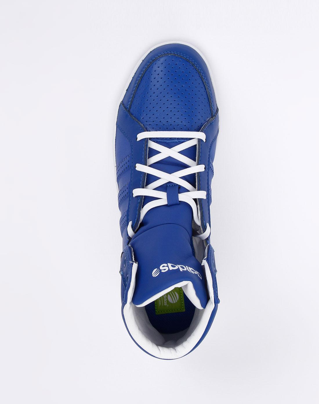 阿迪达斯adidas男款蓝色休闲鞋u44612