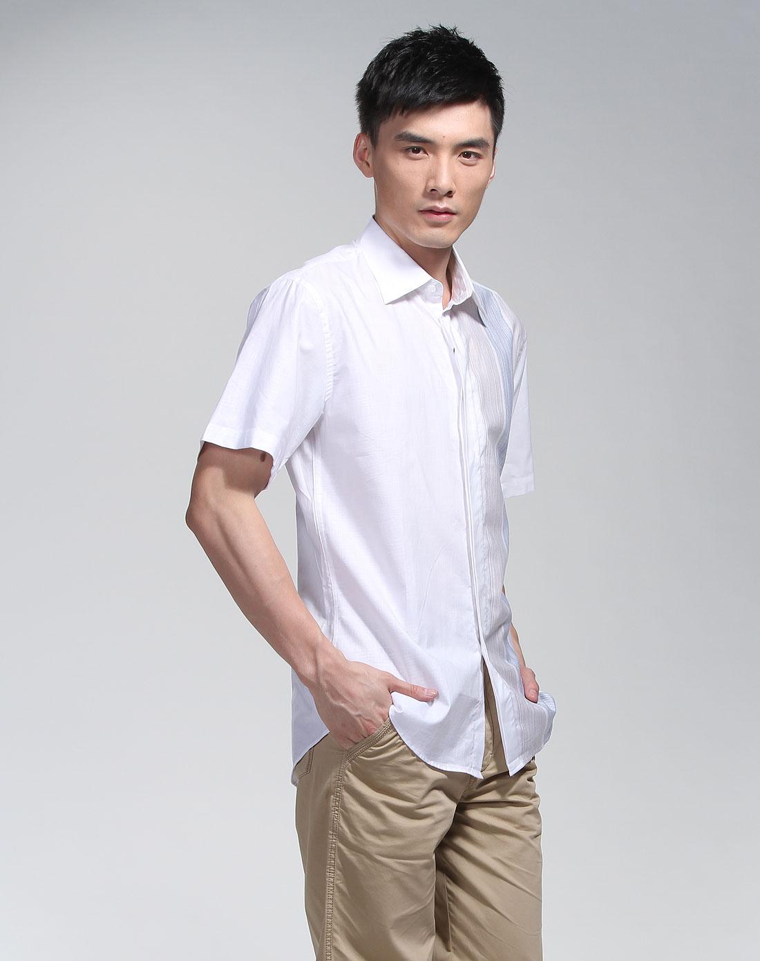 马亚诺mariano白色短袖衬衫_唯品会名牌时尚折扣网