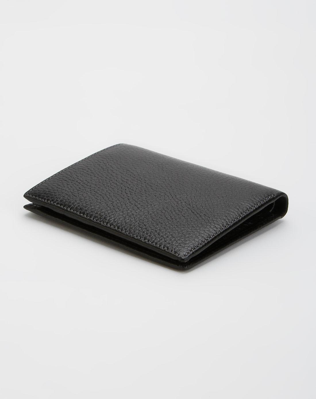 黑色印纹竖款钱包