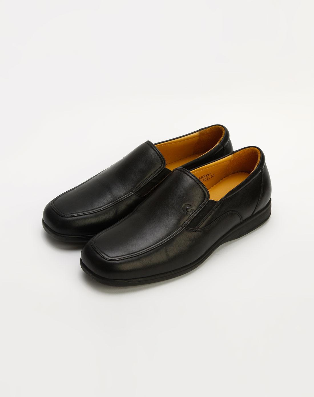黑色套脚皮鞋_傲士ostrich官网特价1.1-4.4折