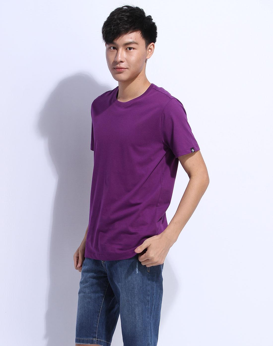 森马紫色短袖休闲t恤002151020-722图片