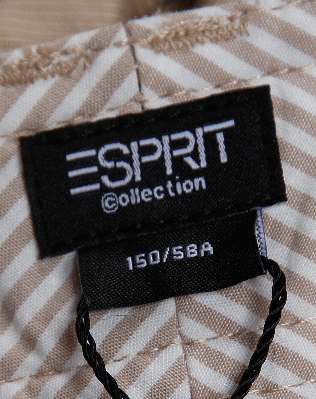 Esprit 女款卡其色直筒休闲长裤 埃斯普利特Esprit官网特价2.5图片